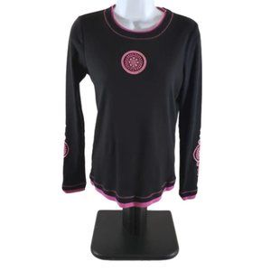 Made for Life Women's Black & Fuchsia Top Size S